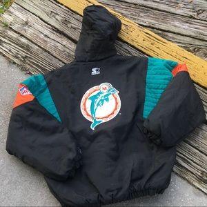 Vintage starter puffer Miami Dolphins jacket XL